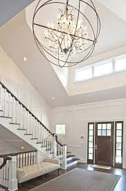 chandelier entryway best foyer staircase hallway images on entryway lighting high ceiling