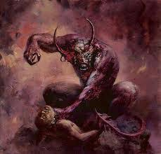 Image result for demons attacking man