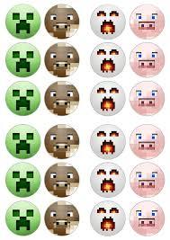 Free Printable Minecraft Cupcake Toppers Kiara Minecraft