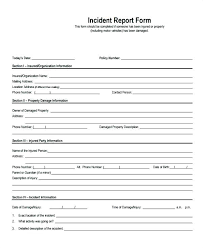 Insurance Incident Report Template