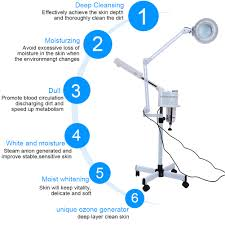 Facial Steamer With Light Details About Multifunction 3in1 Facial Steamer Cold Light Led 5x Magnifier Floor Lamp