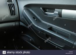 car door inside the car interior close stock image
