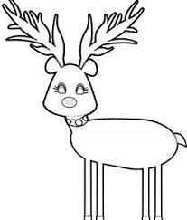 Small Picture FREE PDF 13 Christmas Reindeer Coloring Pages Face Antlers Cute