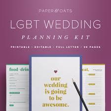 Lgbt Wedding Planning Kit Editable Wedding To Do List Gay
