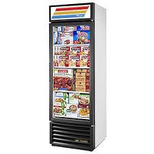 true gdm 19t f ld w freezer merchandiser 1 section 1 glass door led lights