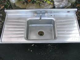 double drain board sink wonderful single bowl stainless steel kitchen sink with drainboard sold antique kitchen