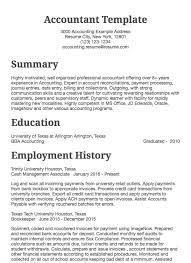 Example Of Accountant Resumes Accounting Resume Sample Accountant Drafted Examples