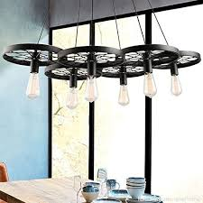 promo linsgroup 6 light wagon wheel chandelier vintage industrial metal retro rustic ceiling hanging pendant lights for loft