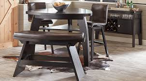 bar height dining table set throughout noah chocolate 4 pc room sets dark wood design