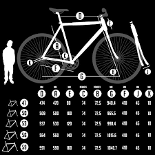 Fixed Gear Bike Frame Size Chart Fixie Frame Size Guide Road Bike Frames Single Speed Road