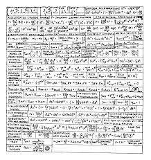 general relativity cheat sheet