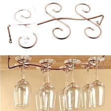 glass holders for bars new 6 8 wine glass rack stemware hanging under cabinet holder bar