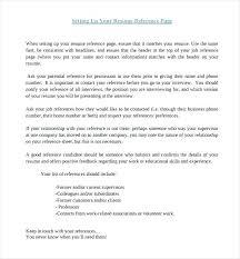 Resume Reference Sample Letsdeliver Co