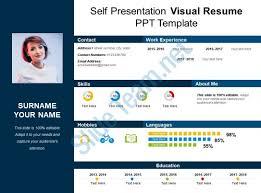 Self Presentation Visual Resume Ppt Template Powerpoint