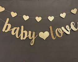 Oh Baby Banner, Baby Shower Banner, Black & Gold Baby Shower Decor, Gold