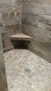 tiled showers ideas walk. earth tone walk in shower with corner bench installed by bpu0027s tile tiled showers ideas r