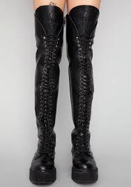 widow memento mori thigh high boots