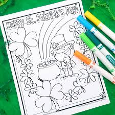free st patrick s day coloring page