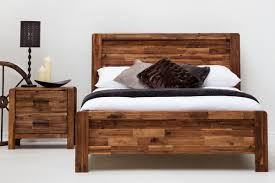 rustic king size wood bed frames