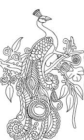 Small Picture Abstract peacock coloring pages on tree ColoringStar