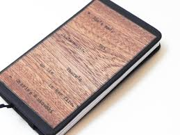 resolute star5x7 wood notebook journal pocket book gift for writer and poet 80 resolute star