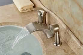 nice bathtub faucet set nickel waterfall roman bath faucets reviews ping