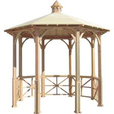 octagon english cottage garden gazebo with cupola adjustable for uneven patio