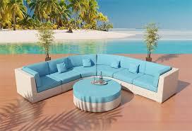 Capri Outdoor Wicker Sectional Sofa Patio Furniture Viro Round