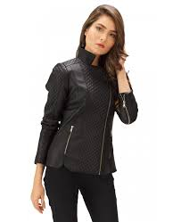 black moto leather jacket