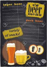 Chalkboard Beer Menu With Place For Text. Royalty Free Cliparts ...