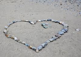 heart stone love sand feelings wedding travel