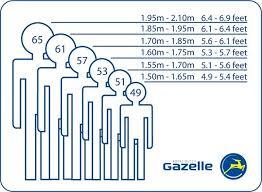 Bike Size Chart For Adults Gazelle Bikes Ireland Frame Size Guide Bike Sizes Dublin