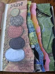 nice art journal torn pages never sketchbook ideasgcse