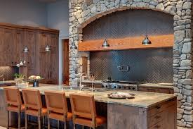 corrugated metal backsplash kitchen contemporary with gray shelves blenders