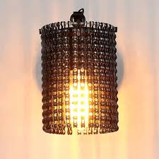 Decorative Chain For Light Fixtures Us 87 97 42 Off Modern Wall Lamps Sconces Iron Bicycle Chain For Restaurant Bedroom Decorative Wall Lights Lamparas Home Lighting Fixture In Led