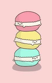 cute food wallpaper. Plain Wallpaper Chibi Cute Food Kawaii Macarons In Cute Food Wallpaper E