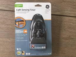 Ge Outdoor Dual Outlet Light Sensing Timer 15112 Ge 15 Amp Plug In Dual Outlet Light Sensing Timer Amazon Com