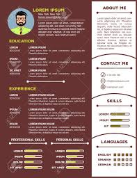 Resume And Cv Template With Nice Minimalist Design Vector Illustration