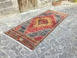 nomadic vintage turkish runner rug hand knotted hallway soft floor 3 4 x 8