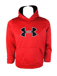 under armour youth hoodie. get quotations · under armour youth big logo hoodie sweater jumper - red ( large) o