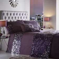 dazzle sequin modern duvet cover set purple