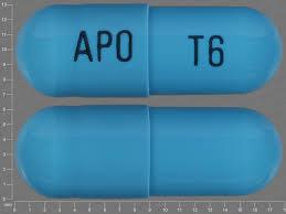 Light Blue Dark Blue Capsule L 6 Apo T6 Pill Images Blue Capsule Shape