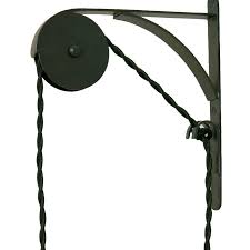 wall mounted pulley black 3 4 x 7 1 2 d x 8 1 2 t
