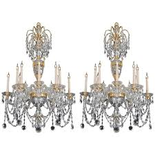 pair of 20th century chandeliers in the style of perry co for