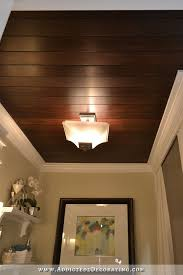 Stained ceiling make from plywood