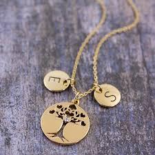 personalised tree of life pendant