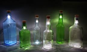 Decorative Liquor Bottles She Took Wine Bottles From The Trash For Her Bedroom Sounds Crazy 12