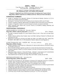 Regulatory Affairs Resume Sample Best Of Resume S Theis Sr Reg Affairs Spec