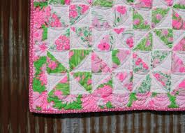 39 best Lilly Quilts ¸.•Â´*¨`*•âœ¿ images on Pinterest | Bath ... & Vintage Lilly Pulitzer Sweet Baby Girl/ Toddler Quilt Adamdwight.com