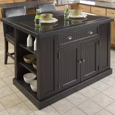 leaf kitchen cart: cart with nantucket kitchen island in distressed black with drop leaf on island